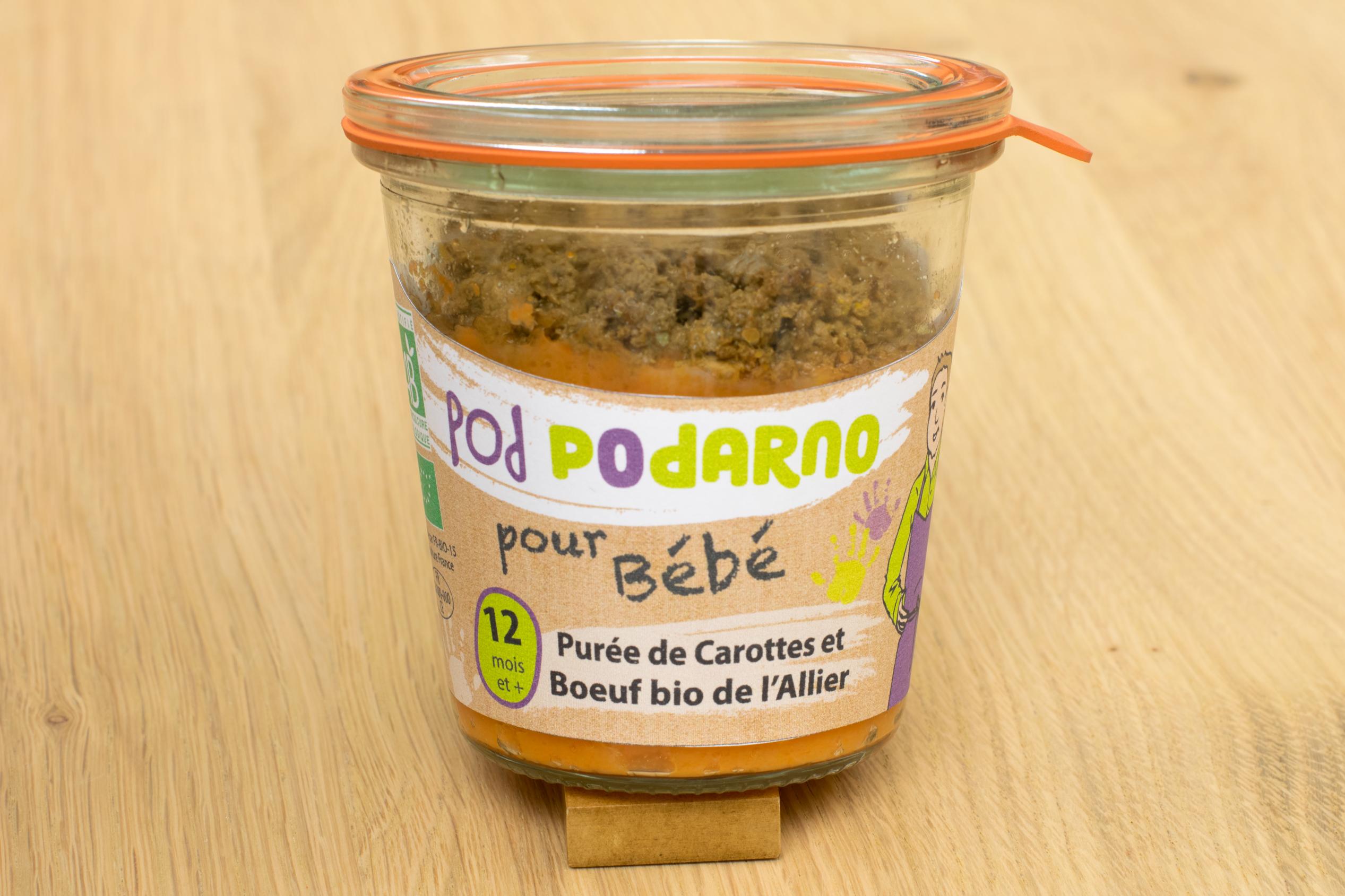 Petits pots pour bébé en bio et locaux Podarno